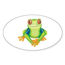 Frogs are Nice Oval Decal