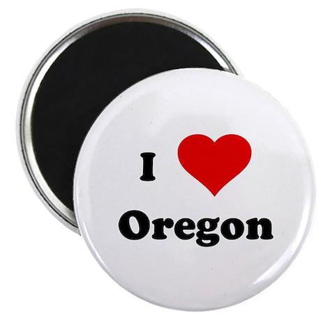 """I Love Oregon 2.25"""" Magnet (10 pack)"""