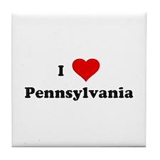 I Love Pennsylvania Tile Coaster