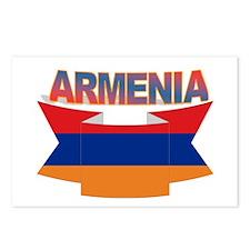 Armenia's flag ribbon Postcards (Package of 8)