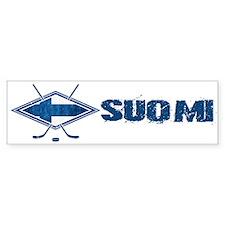 Suomi Jääkiekko Flag Logo Bumper Bumper Sticker