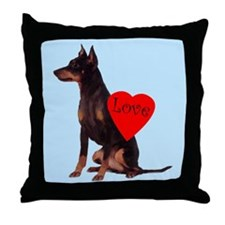 manchester love Throw Pillow