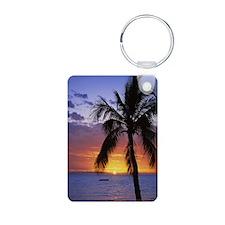 Tropical Sunrise Keychains