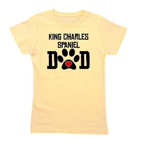 King Charles Spaniel Dad Girl's Tee