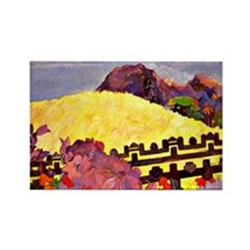 Gauguin - Sacred Mountain Rectangle Magnet