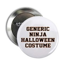 "Generic Ninja Halloween Costume 2.25"" Button"