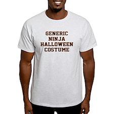 Generic Ninja Halloween Costume T-Shirt