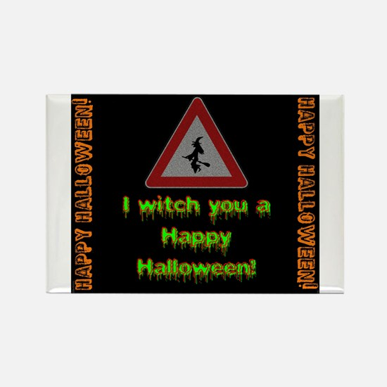 I Witch You A Happy Halloween Magnets