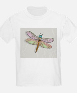 Lavender and Light Green Dragonfly T-Shirt