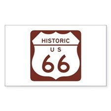 Route 66 Historic US Rectangle Decal