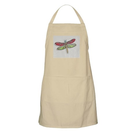Green Red Jeweled Dragonfly small Apron