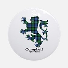 Lion - Campbell of Loudoun Ornament (Round)