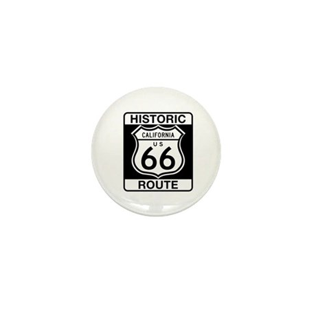Historic Route 66 - USA Mini Button (10 pack)