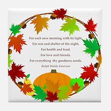 Thanksgiving Wreath Tile Coaster
