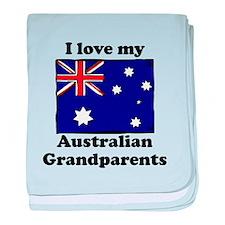 I Love My Australian Grandparents baby blanket