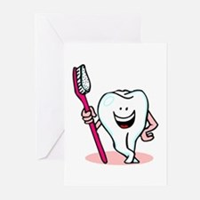 Happy Toothbrush Dentist / Dental Hygienist Greeti