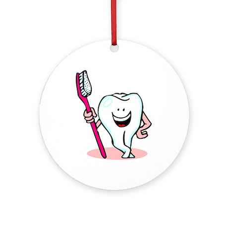 Happy Toothbrush Dentist / Dental Hygienist Orname