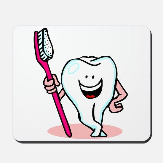 Happy Toothbrush Dentist / Dental Hygienist Mousep