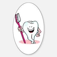 Happy Toothbrush Dentist / Dental Hygienist Sticke