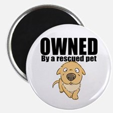 OWNED by a rescued pet Magnets