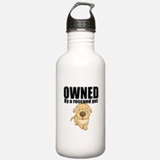 OWNED by a rescued pet Water Bottle