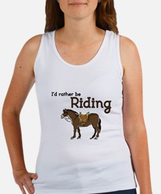 Id rather be Riding Tank Top