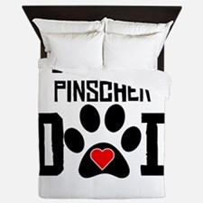 Doberman Pinscher Dad Queen Duvet