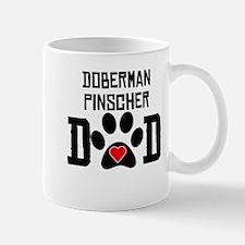 Doberman Pinscher Dad Mugs