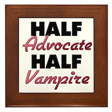 Half Advocate Half Vampire Framed Tile