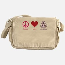 Peace, Love, Bjj 01 Messenger Bag