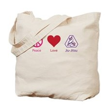 Peace, Love, BJJ 01 Tote Bag