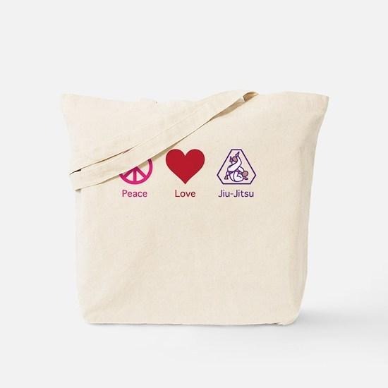 Peace, Love, BJJ 01 Tote Bag
