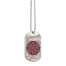 Red Machinery Dog Tags