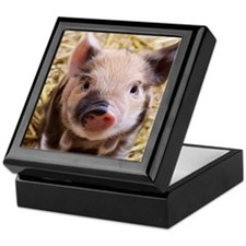sweet piglet Keepsake Box