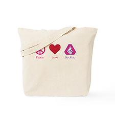 Peace, Love, BJJ 02 Tote Bag