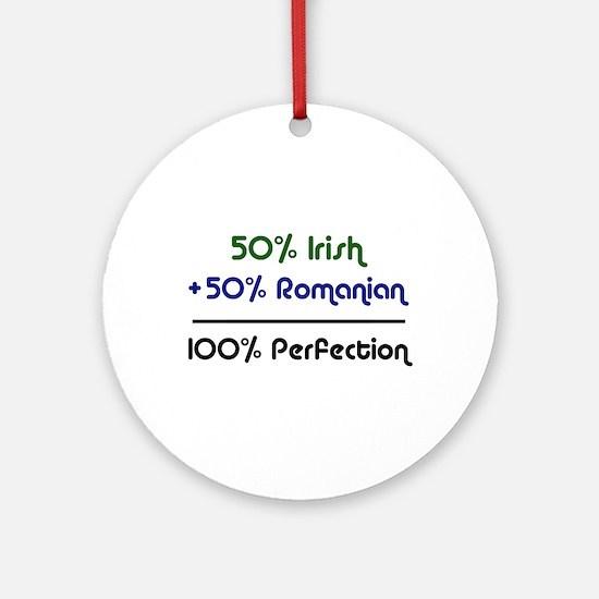 Irish & Romanian Ornament (Round)