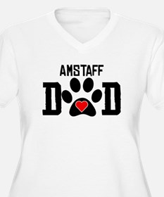 AmStaff Dad Plus Size T-Shirt