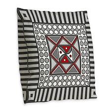 Alternating Geometric Burlap Throw Pillow