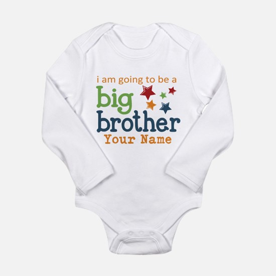 I am going to be a Big Brother Personalized Onesie Romper Suit