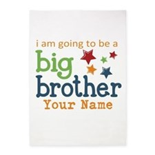 I am going to be a Big Brother Personalized 5'x7'A