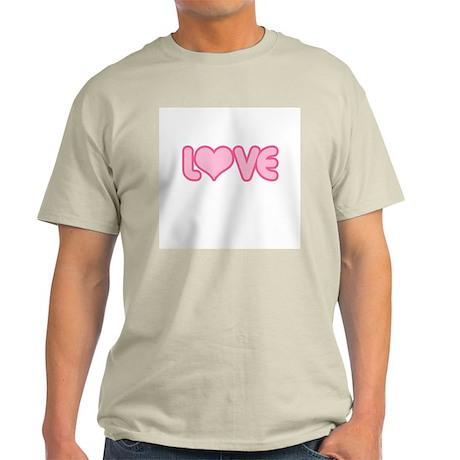 Heart Love Ash Grey T-Shirt