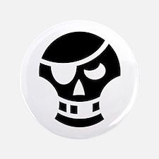 "Halloween Skull Pirate Ideology 3.5"" Button"