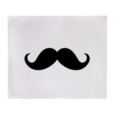 Mustache Movember Ideology Throw Blanket