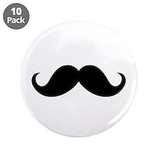 "Mustache Movember Ideology 3.5"" Button (10 pack)"