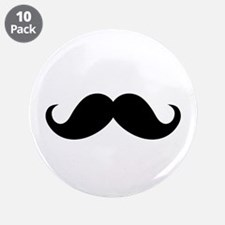 "Mustache Movember Ideology 3.5"" Button (10 pack)"