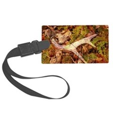 leaves camouflage deer antler Luggage Tag