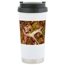 leaves camouflage deer antler Travel Mug
