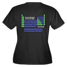 Periodic Table Women's Plus Size V-Neck Dark T-Shi