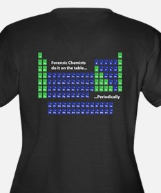 Periodic Table Women's Plus Size V-Neck Dark T-Shi