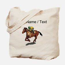 Custom Race Horse Tote Bag